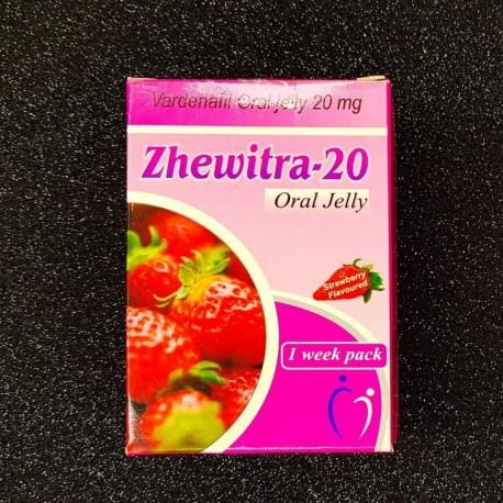 **Levitra Oral Jelly Zhewitra 7 Strawberry Taste Packs 20mg Vardenafil