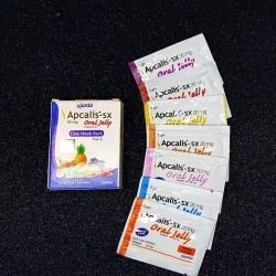 Апкалис-ЭСИКС Съедобный Гель 7 Пакетиков с Фруктовыми вкусами (20мг Тадалафил, Аджанта)